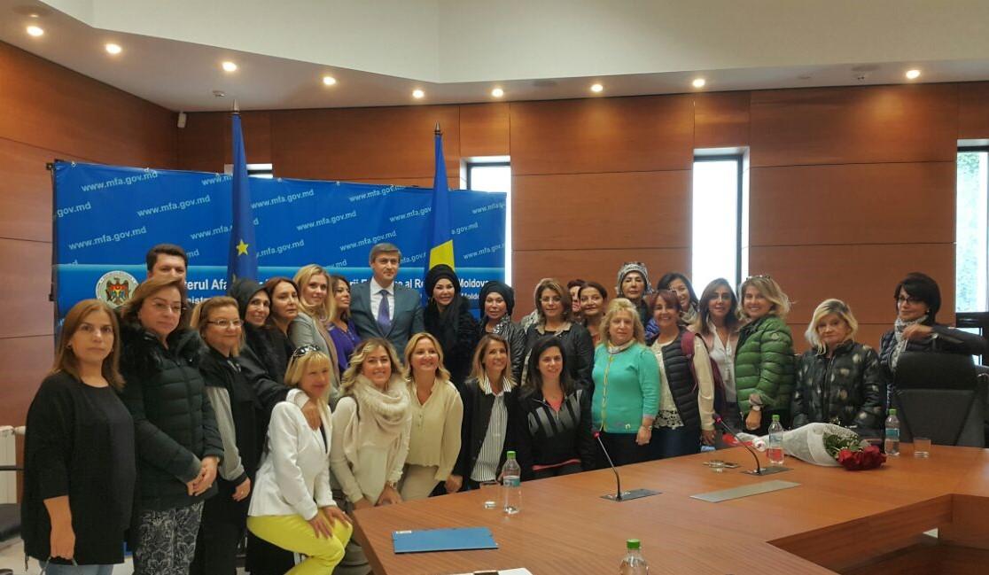 Vizita în Republica Moldova a delegaţiei femeilor de afaceri din Turcia